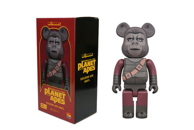 Medicom Toy 400% Bearbrick - Planet of the Apes: Soldier Ape Be@rbrick