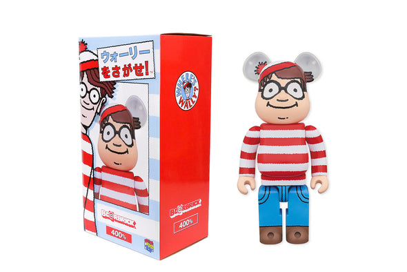 Medicom Toy 400% Bearbrick - Where's Waldo (Wally) Be@rbrick