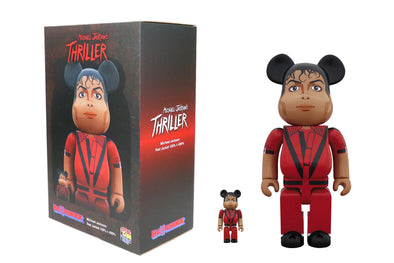 Medicom Toy 100% + 400% Bearbrick Set - Michael Jackson: Thriller Red Jacket Version Be@rbrick