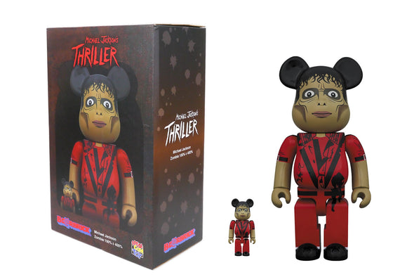 Medicom Toy 100% + 400% Bearbrick Set - Michael Jackson: Thriller Zombie Version Be@rbrick