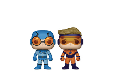 Funko Pop! Heroes - DC Comics Super Heroes Blue Beetle & Booster Gold Regular 2 Pack - PX Previews Exclusive