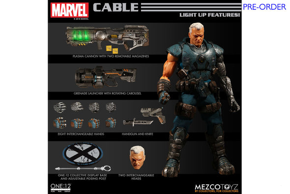 Mezco Toyz One:12 Collective - Marvel Cable Figure - PRE-ORDER