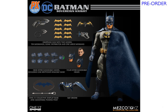 Mezco Toyz One:12 Collective - DC Universe Batman: Sovereign Knight PX Previews Exclusive Figure - PRE-ORDER