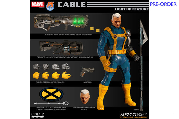 Mezco Toyz One:12 Collective - Marvel Cable (X-Men Edition) PX Previews Exclusive Figure - PRE-ORDER
