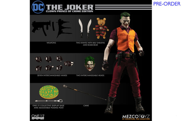 Mezco Toyz One:12 Collective - DC Universe The Joker: Clown Prince of Crime Edition Figure - PRE-ORDER