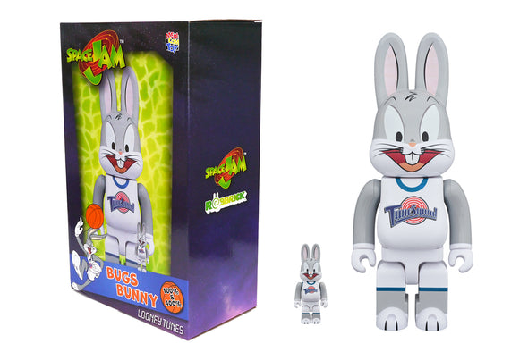 Medicom Toy 100% + 400% Rabbrick Set - Space Jam: Bugs Bunny R@bbrick