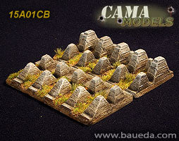 15A01CB 15mm Dragon teeth Anti-tank obstacle Baueda- Blitz and Peaces
