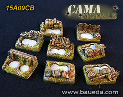 15A09CB 6 different small scenic bases (rural) Baueda- Blitz and Peaces