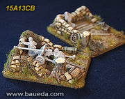 15A13CB 2 different Heavy Artillery scenic bases (rural)