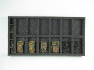 Flames of War 12 Artillery Foam Tray (BFM) 15.5W x 8L x 1.5H