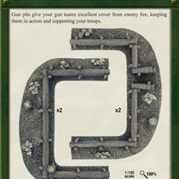 Log Emplacements - Gun Pit Markers