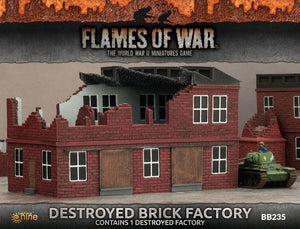 BB235 Destroyed Brick Factory Battlefront- Blitz and Peaces