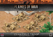 BBX33 25 pdr Field Troop (Plastic) Battlefront- Blitz and Peaces