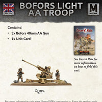BBX36 Bofors Light AA Troop Battlefront- Blitz and Peaces