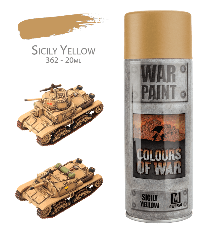 CWP250 Sicily Yellow Spray  *Not for Export* Battlefront- Blitz and Peaces