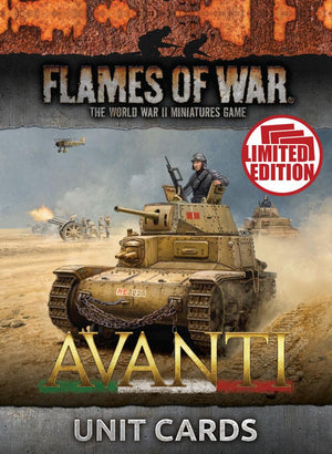 FW244U Avanti Unit Cards Battlefront- Blitz and Peaces