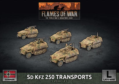 GBX129 Sd Kfz 250 Transports (Plastic) Battlefront- Blitz and Peaces