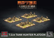 GBX148 7.5cm Tank Hunter Platoon (Plastic) Battlefront- Blitz and Peaces