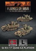 GBX159 SdKfz 7/1 Quad AA Platoon Battlefront- Blitz and Peaces