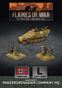 GBX168 Armoured Panzergrenadier Company HQ (plastic) Battlefront- Blitz and Peaces