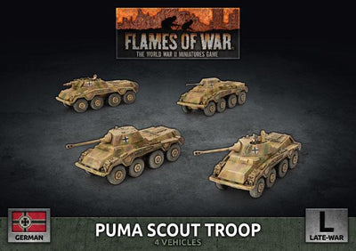 GBX172 Puma Scout Troop (Plastic) Battlefront- Blitz and Peaces