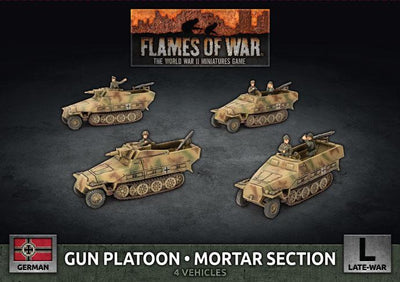 GBX177 Gun Platoon / Mortar Section (x4 Plastic) Battlefront- Blitz and Peaces