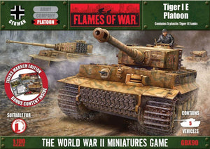 Tiger 1E Platoon (Plastics) Battlefront- Blitz and Peaces