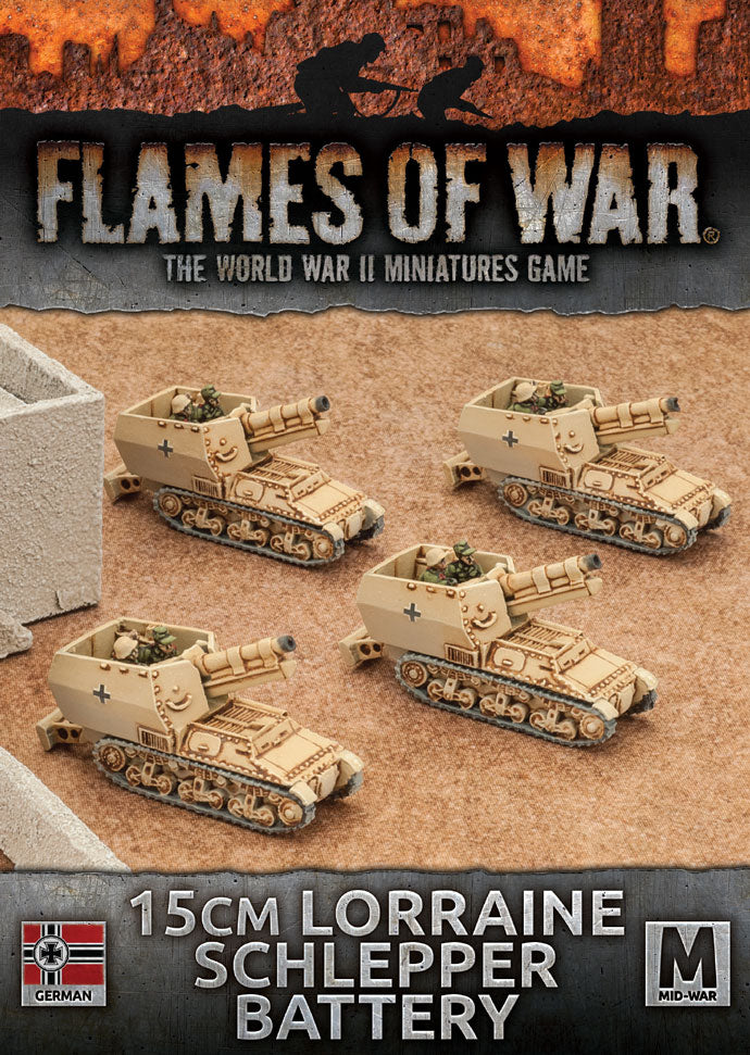 GBX95 15cm Lorraine Schlepper Battery Battlefront- Blitz and Peaces