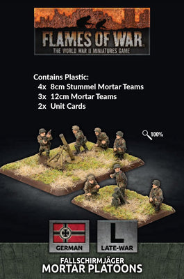 GE769 Fallschirmjager 8cm/12cm Mortar Platoon Battlefront- Blitz and Peaces