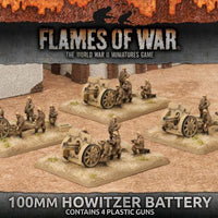 IBX12 100mm Howitzer Battery (Plastic) Battlefront- Blitz and Peaces