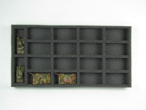 Flames of War Medium and Large Tank Foam Tray (BFM) 15.5W x 8L x 1.5H