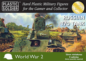 15mm Russian T70 Tank Plastic Soldiers Company- Blitz and Peaces