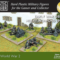 15mm Early War German Heavy Weapons 1939-42 Plastic Soldiers Company- Blitz and Peaces