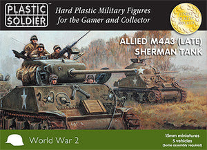 15mm Easy Assembly Sherman M4A3 (Late) Tank Plastic Soldiers Company- Blitz and Peaces
