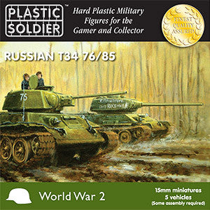 15mm Russian T34 76/85 Tanks Plastic Soldiers Company- Blitz and Peaces