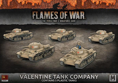 SBX41 Valentine Tank Company (Plastic) Battlefront- Blitz and Peaces