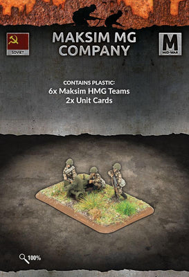 SU770 Maksim MG Company (Plastic) Battlefront- Blitz and Peaces