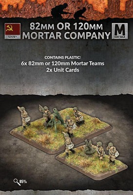 SU772 82mm or 120mm Mortar Company (x6 teams Plastic) Battlefront- Blitz and Peaces
