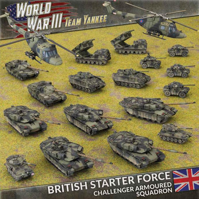 TBRAB03 British Starter Force: Challenger Armoured Squadron Battlefront- Blitz and Peaces