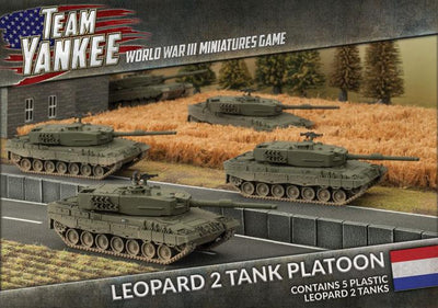TDBX01 Leopard 2 Tank Platoon (Plastic) Battlefront- Blitz and Peaces