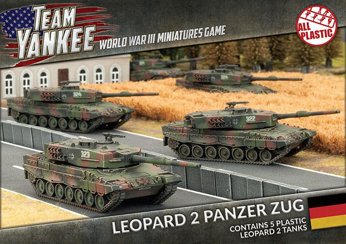 TGBX01 Leopard 2 Panzer Zug (Plastic) Battlefront- Blitz and Peaces