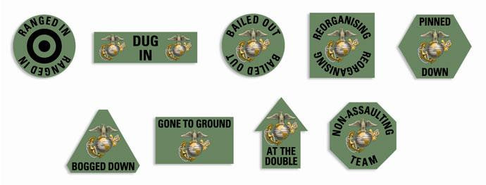 US Marines Token Set Battlefront- Blitz and Peaces