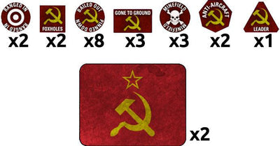 TTK15 Soviet Token Set Battlefront- Blitz and Peaces