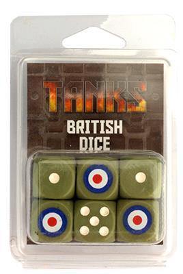 TANKS14 British Dice Set Battlefront- Blitz and Peaces