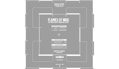 AT011 Salvo Template (Etched) Battlefront- Blitz and Peaces