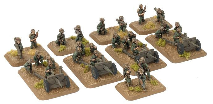 M1A1 75mm pack howitzer (Marine) (x4) Battlefront- Blitz and Peaces