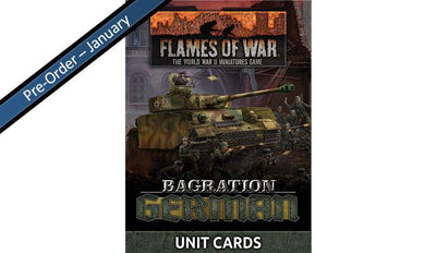 FW267U Bagration: German Unit Cards (70x Cards)