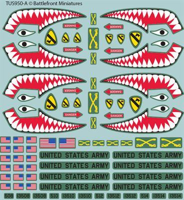 TUS950 American Decal set Battlefront- Blitz and Peaces