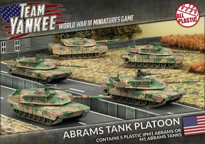 TUBX08 Abrams Tank Platoon (Plastic) Battlefront- Blitz and Peaces