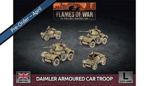 BBX61 Daimler Armoured Car Troop (Plastic) Battlefront- Blitz and Peaces